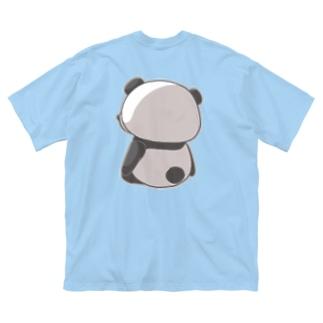 さびしいパンダ Big T-shirts