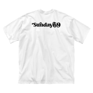 Sunday69 Big silhouette T-shirts