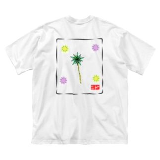 花 Big silhouette T-shirts