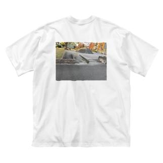意味わからん入り口 Big silhouette T-shirts