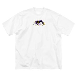 浮遊死君 Big silhouette T-shirts