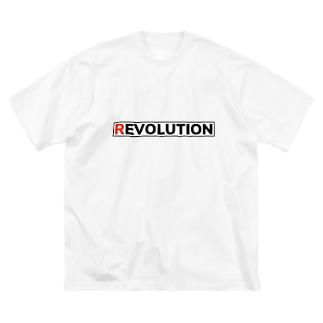 REVOLUTION EVOLUTION Big silhouette T-shirts