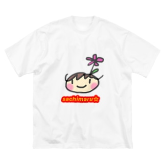 さちまる☆のグッズ Big silhouette T-shirts