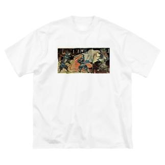 酒呑童子Tシャツ Big silhouette T-shirts