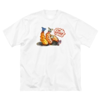 守時はるひのI'm hungry... Big silhouette T-shirts
