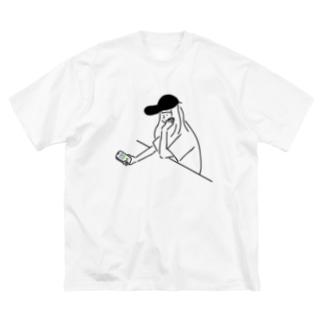 Girl ガール #3 イラスト  Big silhouette T-shirts