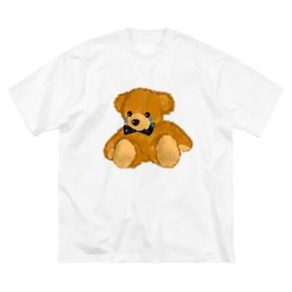 かなしみくまさん Big silhouette T-shirts
