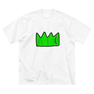 へんてこキャラクター お弁当の『ばらん』🌱💗 Big silhouette T-shirts