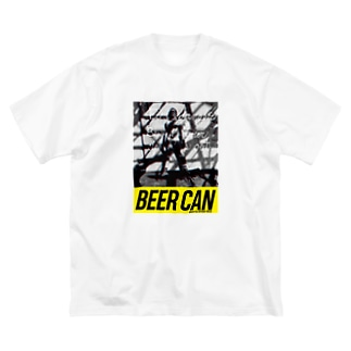 Man with Beer Can Big silhouette T-shirts