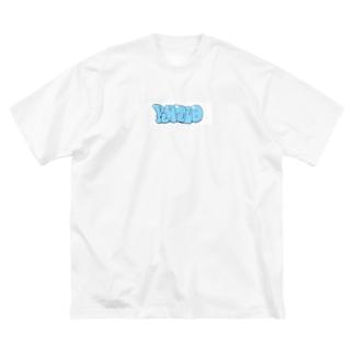 早朝のスケーター Big silhouette T-shirts