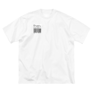 slum dog TOKYO ロゴ&バーコード Big silhouette T-shirts