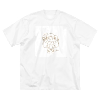 長与 千種 Chigusa Nagayoのウデアシ桃 Big silhouette T-shirts