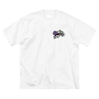 目目 Big silhouette T-shirts
