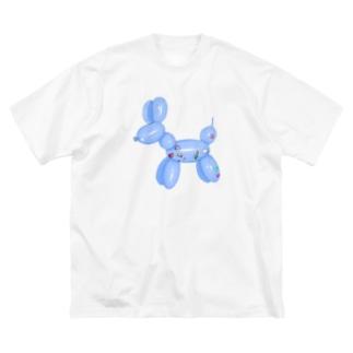 うさちゃん天使の犬 Big silhouette T-shirts