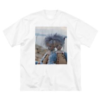 青色の旅 Big silhouette T-shirts