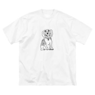 anataeのビーグル犬のビーちゃんティシャツ Big silhouette T-shirts