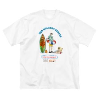俺たちの休日シリーズ・海 Big silhouette T-shirts