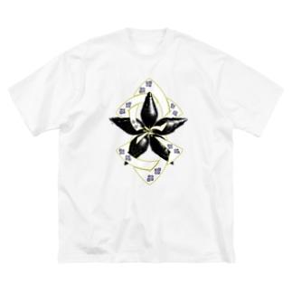 螺旋桔梗 Big Silhouette T-Shirt