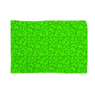 緑のヒョウ柄 Blankets