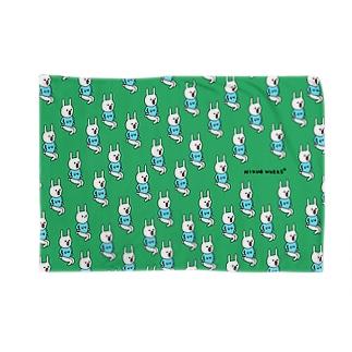 うにょうにょのウー[green] ブランケット
