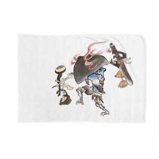 百鬼夜行絵巻 鍋坊主【絵巻物・妖怪・かわいい】 Blankets