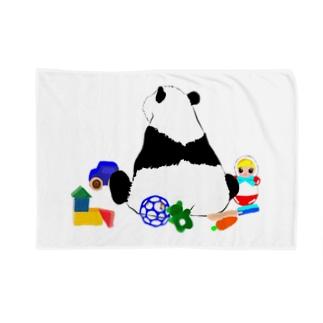 お片づけできないパンダ🐼ブルー💙 Blankets