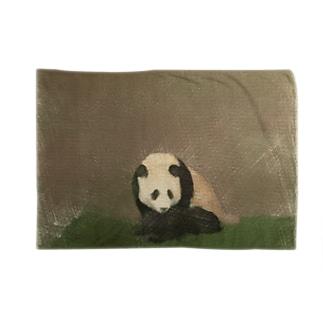 パンダを色鉛筆風に ブランケット
