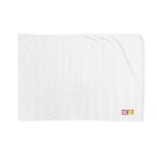 キョロブランケット/ハンカチ(レインボー) Blankets
