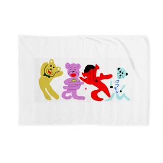 くまさん「熊文字」 Blankets