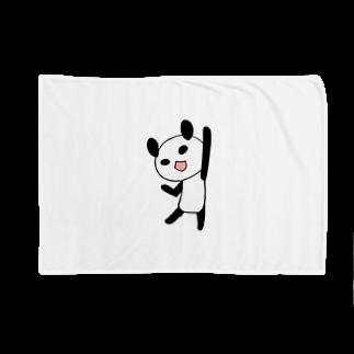 Tea Drop Sのやる気に満ちたパンダ Blankets