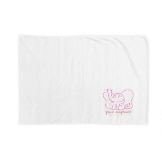 pink elephant ブランケット