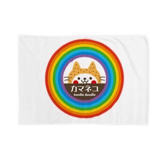 かまねこ(レインボー) Blankets