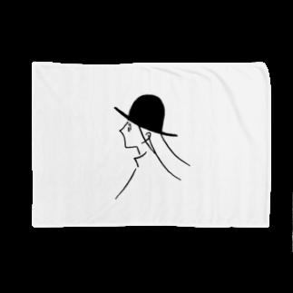 チチチ商店の風と帽子のつくしちゃん Blankets