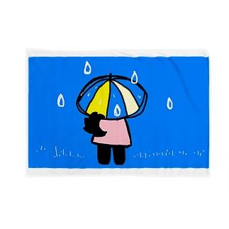雨の日のクローネちゃん Blankets