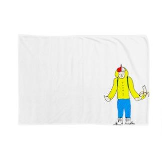 QK活動まさるくん Blankets