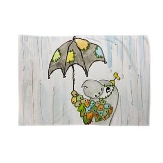 ROBOBO ヨウムの福ちゃんロボ  雨降り Blankets