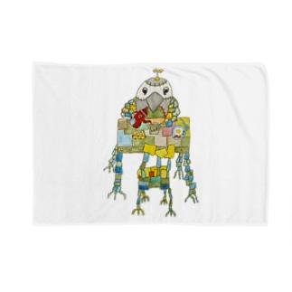 ROBOBO ヨウムの福ちゃんロボ 朝食 Blankets