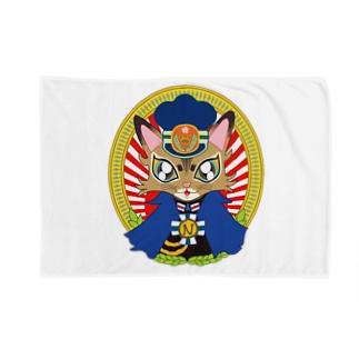 猫の駅長さん(ソマリ猫プリンちゃん)  Blankets