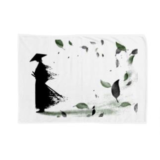 侍と舞う葉 Blankets
