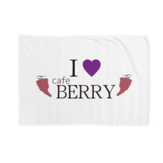 I LOVE CAFE BERRY Blankets