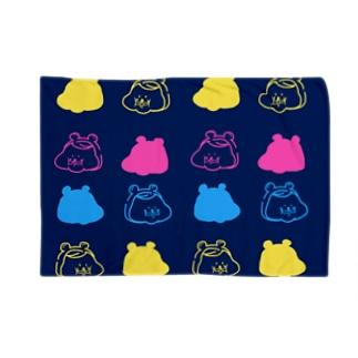 ハムオ 紺 Blankets