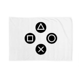 三角、四角、丸、バツ Blankets