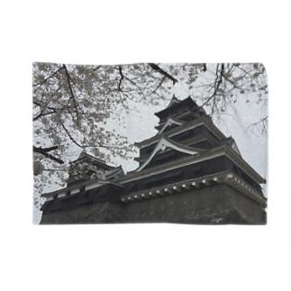 在りし日の熊本城 Blankets