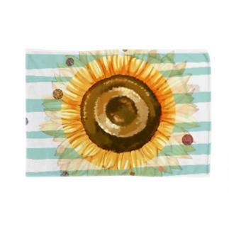 太陽みたいなひまわり Blankets