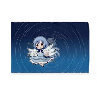 サリエルとペタちゃん(白いマスコット)のブレンケット Blankets