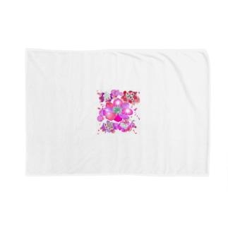 キラキラ花まつり Blankets