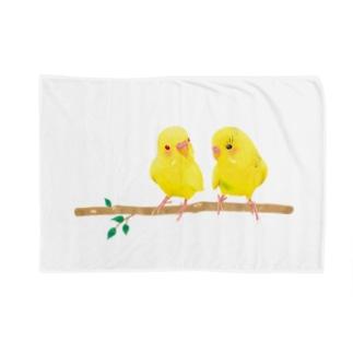 幸せの黄色いセキセイインコ Blankets
