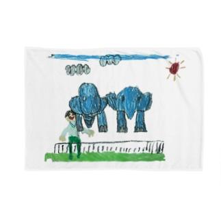 りしゆな:ゾウさん by はせりょう Blankets
