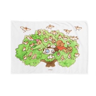 木の上のティータイム Blankets