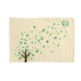 北欧風イニシャルロゴ Blankets